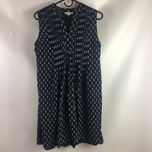 Beach Lunch Lounge Dress Sleeveless Blue Mini Size